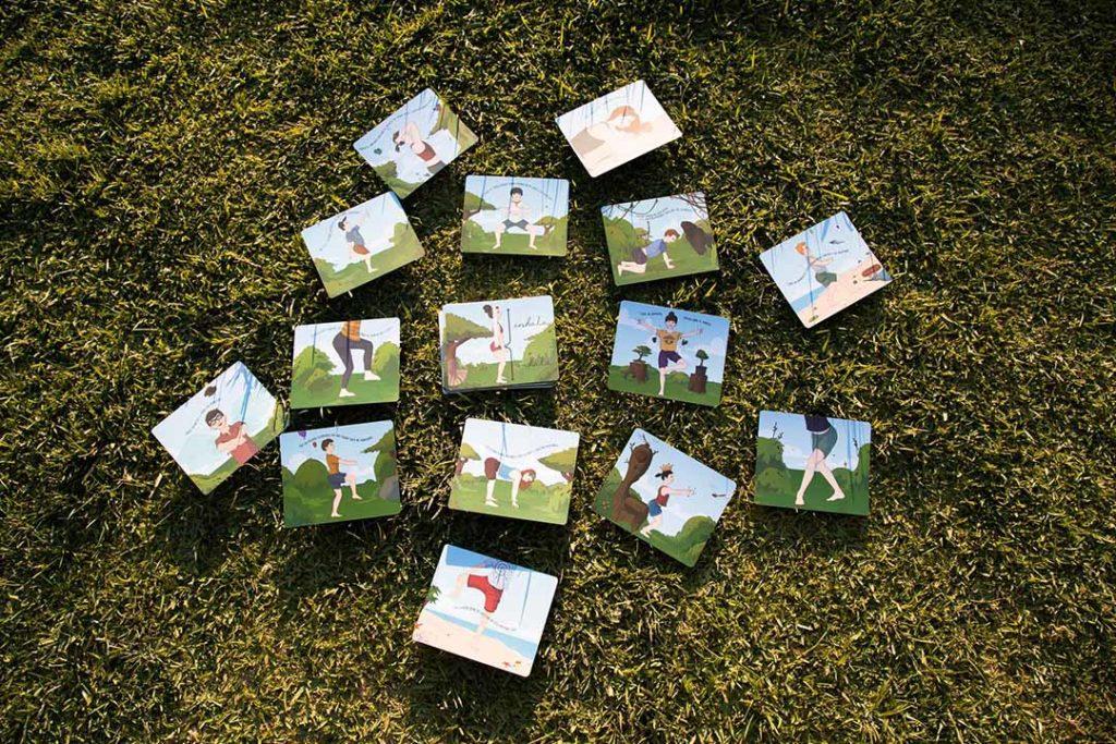 Bowspring flash cards